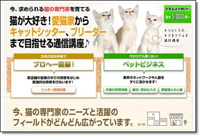 猫の専門家「ヒューマンアカデミー」